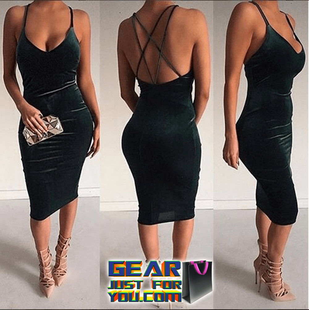 Elegant Backless Evening Cocktail Party Dress – Gear Just For You