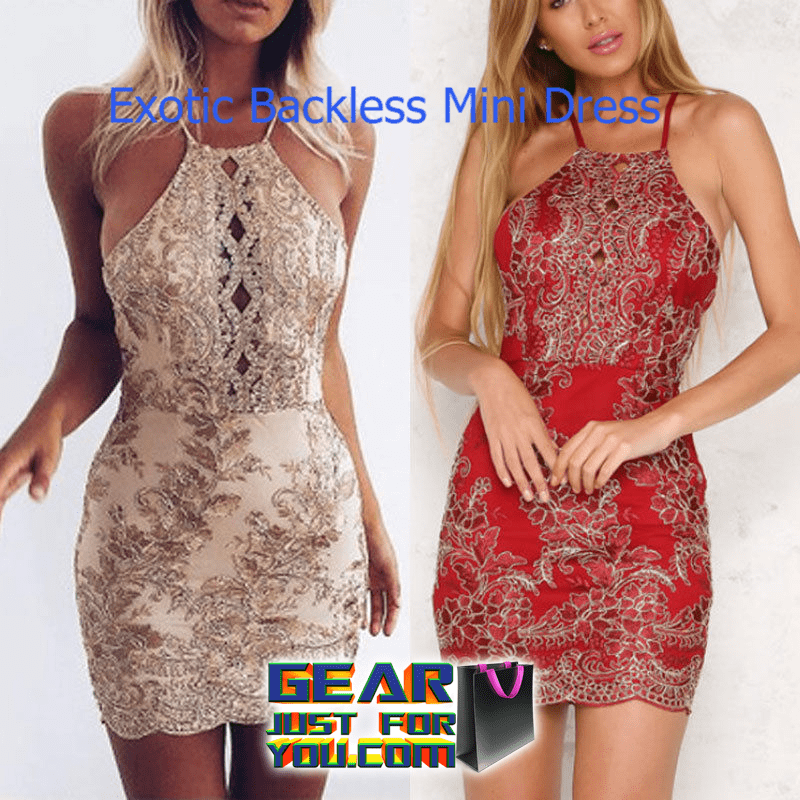 30c2172aeccd Sexy Backless Summer Bandage Cocktail Short Mini Party Dress - GEAR ...
