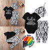 Unique Newborn Infant Baby Boy Cotton Outfit Clothes Set With Romper Pants Legging Hat - Gear Just For You.com