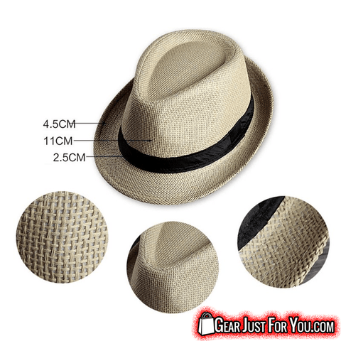 Amazing Curled Brim Strip Summer Beach Unisex Sun Hat - Gear Just For You.com