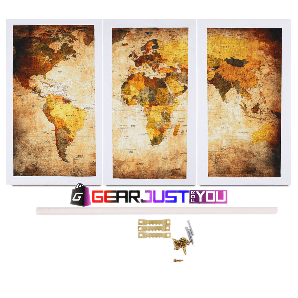 Spectacular retro world map ready to hang canvas wall art painting spectacular retro world map ready to hang canvas wall art painting gumiabroncs Image collections
