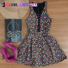 Most Attractive Women's Multicolor Floral Sleeveless Casual Short Summer Dress