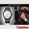 Luxurious Stainless Steel Analog Quartz Round Dial Water Resistance Men's Wrist Watch - Gear Just For You.com