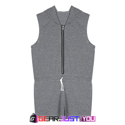 Coolest Fashion Hoodie Sleeveless Zipper Sexy Club Wear Mini Dress