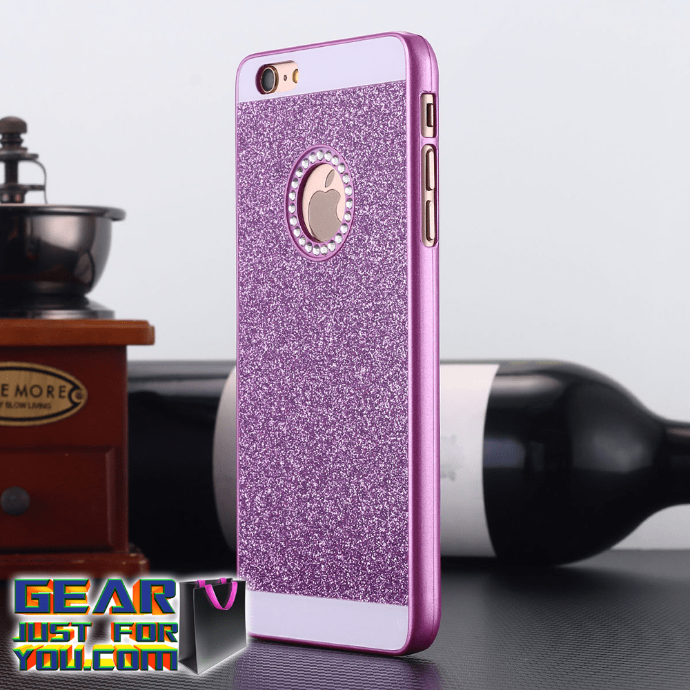 Super Luxurious Glitter Crystal Plastic Metallic iPhone Case Cover - Gear Just For You.com