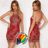 Sexy Backless Summer Bandage Cocktail Short Mini Party Dress
