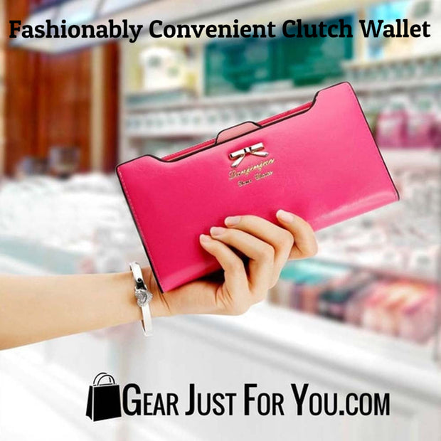Adorable Clutch Wallet Made with Leather - Gear Just For You.com
