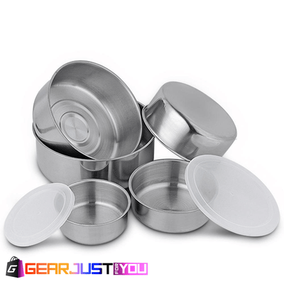 Amazing 10 Pcs Stainless Steel Clear Plastic Lid Storage Bowl Set - Gear Just For You.com