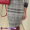 Exquisite Outlook Black-White Individual Striped Noble Party Dress