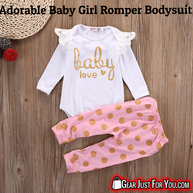 7cb64a798a72d Adorable Infant Newborn Baby Girls Romper Pants Bodysuit - Gear Just For You .com