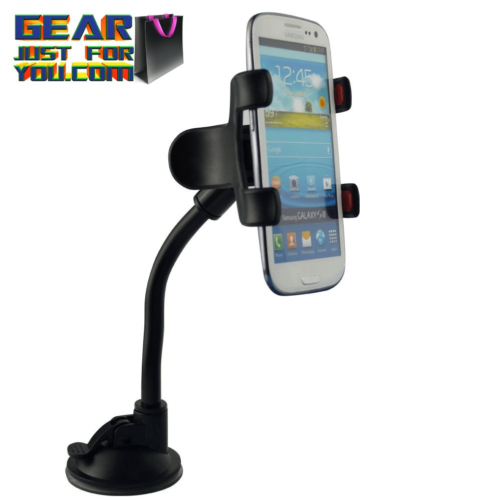 Amazing 360° Rotating Car Windshield Mount Holder Universal Cell Phone Stand Bracket - Gear Just For You.com