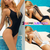Spectacular Backless Padded Bathing Swimwear Set