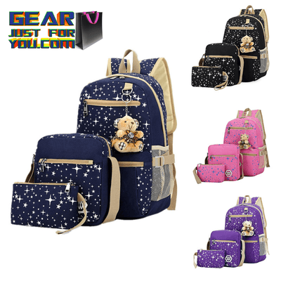 Durable High Fashion Canvas Charming Design School Girl Backpack
