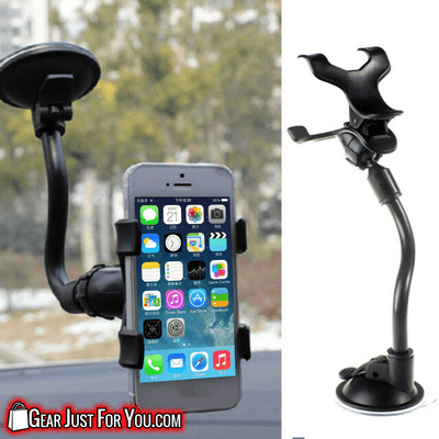 Effective 360° Rotating Compact Car Windshield Mount Holder Cell Phone Stand Bracket