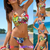 Gorgeous Multi-Color Triangle Padded Bikini Set