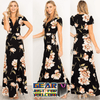 Summer Chiffon Floral Full-Length Boho Maxi Dress