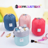 Image of Convenient Carrying Barrel Shaped Cosmetic Travel Storage Pouch