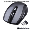 2.4GHz Slim Wireless Optical Mouse with 2.0 USB Receiver - Gear Just For You.com