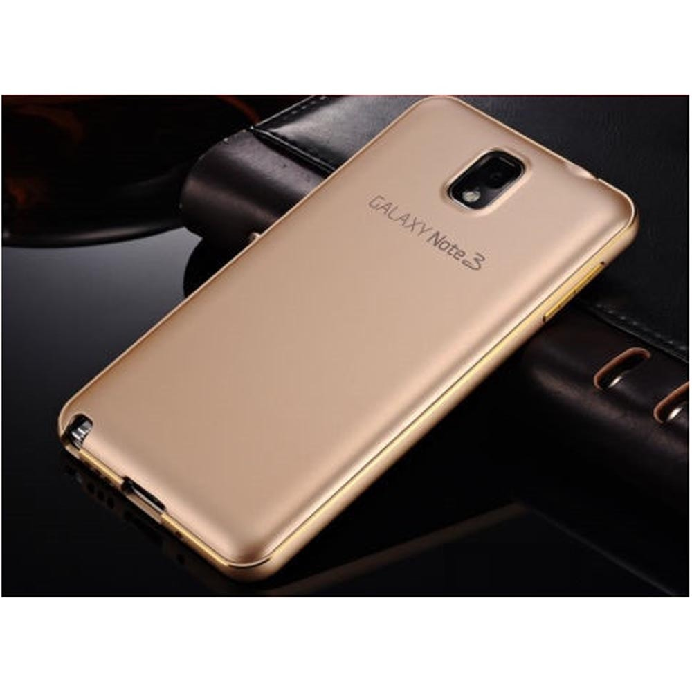Luxury Aluminum Metal Bumper Frame Back Skin Case Cover For Samsung Note 4 Mirror Backcase With Aluminium Black Galaxy Phone Gear Just