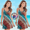 Sexy Women Colorful Tribal Printed Pattern Sleeveless Casual Beach Wear - Gear Just For You.com