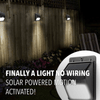 Amazing Solar Powered Motion Sensor Waterproof Wall Security Light - NO WIRING NEEDED, EASY INSTALLATIONS