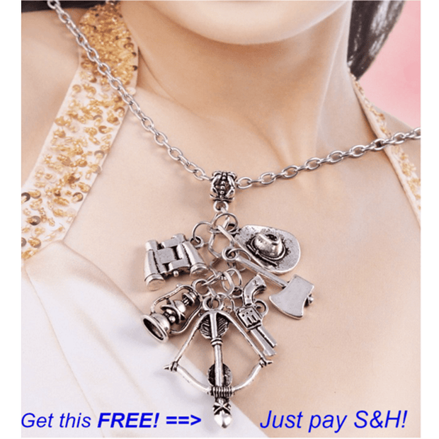 The Walking Dead Unique Charm Long Chain Pendant Necklace - Gear Just For You.com