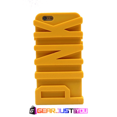 Decorative 3D Letter Patterned Soft Silicone Phone Case Cover For iPhone