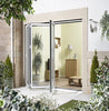 Lpd External 2.4M Aluvu (8Ft) Aluminium Bi-Fold Door Set In A White Finish (Right Hand Opening) - External Doors