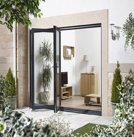 Lpd External 3.0M Aluvu (10Ft) Aluminium Bi-Fold Door Set In A Grey Finish (Left Hand Opening) - External Doors