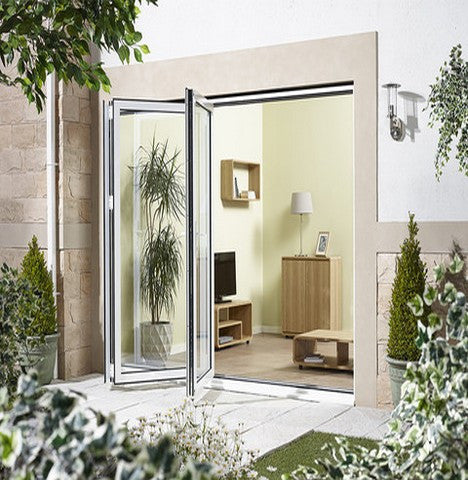 Lpd External 3.0M Aluvu (10Ft) Aluminium Bi-Fold Door Set In A White Finish (Left Hand Opening) - External Doors