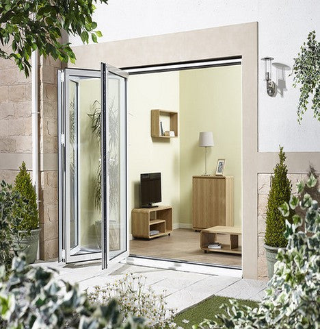 Lpd External 3.0M Aluvu (10Ft) Aluminium Bi-Fold Door Set In A White Finish (Right Hand Opening) - External Doors