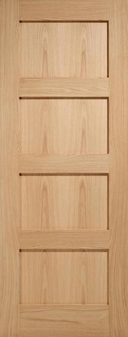 Mendes Internal Oak Contemporary 4 Panel Door - Internal Doors