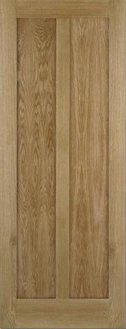 Lpd Internal Oak Maine 2 Panel Unfinished Door - Internal Doors