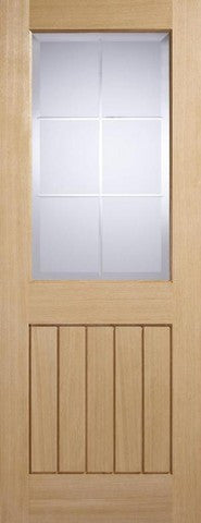 Lpd Internal Oak Mexicano With Valencia Glass Door - Internal Doors