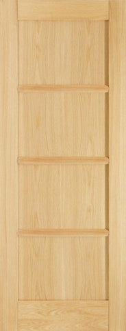 Lpd Internal Oak Oslo 4 Panel Pre-Finished Door - Internal Doors