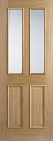 Lpd Internal Oak Glazed Richmond Pre-Finished Raised Mouldings Door - Internal Doors