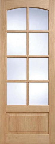 Lpd Internal Oak Worthing 8 Light Bevelled Glass Door - Internal Doors