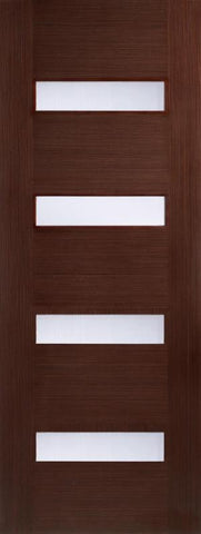 Lpd Internal Walnut Monaco Glazed Door - Internal Doors