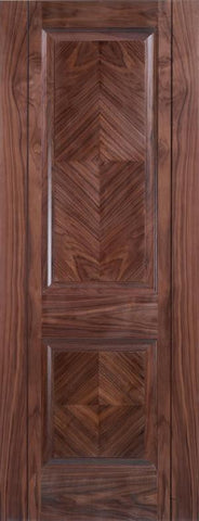Lpd Internal Walnut Madrid 2 Panel Pre-Finished Door - Internal Doors