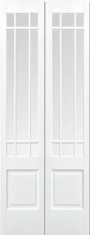 Lpd Internal Pairs Downham Clear Bevelled Glass Prime Plus Door - Internal Doors