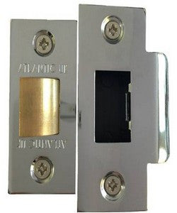 "3"" Heavy Duty Bolt Through Tubular Latch in a Polished Chrome Finish - MODA Doors"