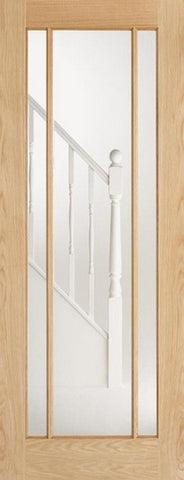 Lpd Internal Oak Lincoln 3 Panel Glazed Door - Internal Doors