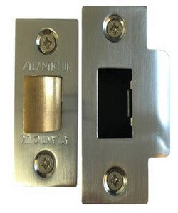 "Atlantic Handles 3"" Heavy Duty Bolt Through Tubular Latch in a Satin Chrome Finish - MODA Doors"