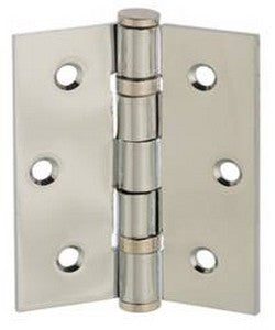"3"" x 2.5"" x 2.5mm Ball Bearing Pair of Hinges in a Satin Nickel Finish - MODA Doors"