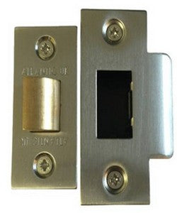 "Atlantic Handles 3"" Heavy Duty Bolt Through Tubular Latch in a Satin Nickel Finish - MODA Doors"