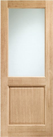 Xl Joinery External Oak Dowelled Double Glazed 2Xg With Clear Glass Door - External Doors