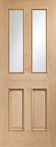 Xl Joinery Internal Oak Malton With Clear Bevelled Glass & Raised Mouldings Door - Internal Doors