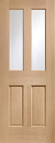 Xl Joinery Internal Oak Malton With Clear Bevelled Glass Door - Internal Doors