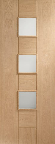 Xl Joinery Internal Oak Messina With Obscure Glass Door - Internal Doors