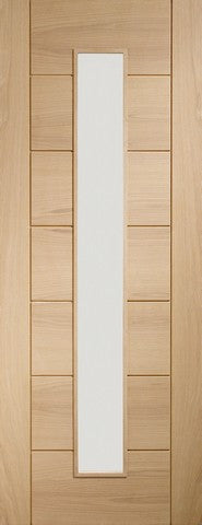 Xl Joinery Internal Oak Palermo 1 Light With Clear Glass Door - Internal Doors